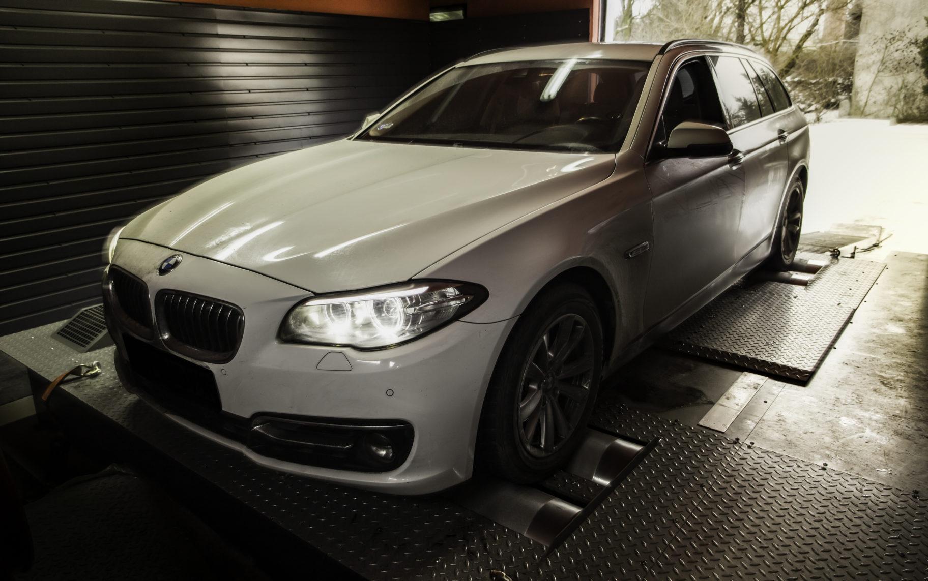 BMW F11 po tuningu na hamowni w s-performance